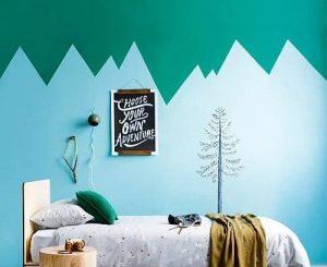 chambre sous le thème de la montagne