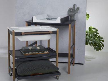 Table à langer avec baignoire - image